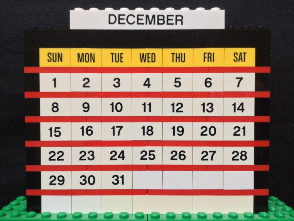 LEGO month calendar of December 2019