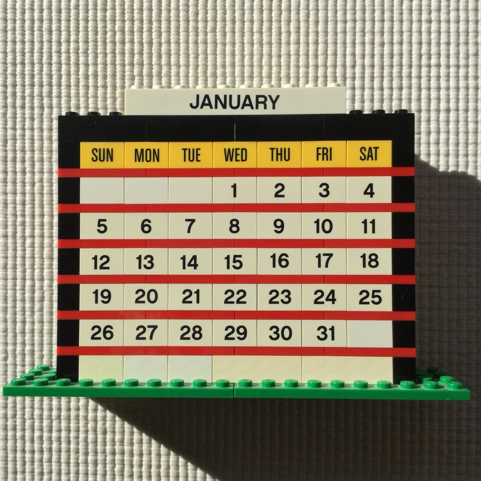 LEGO month calendar of January 2020