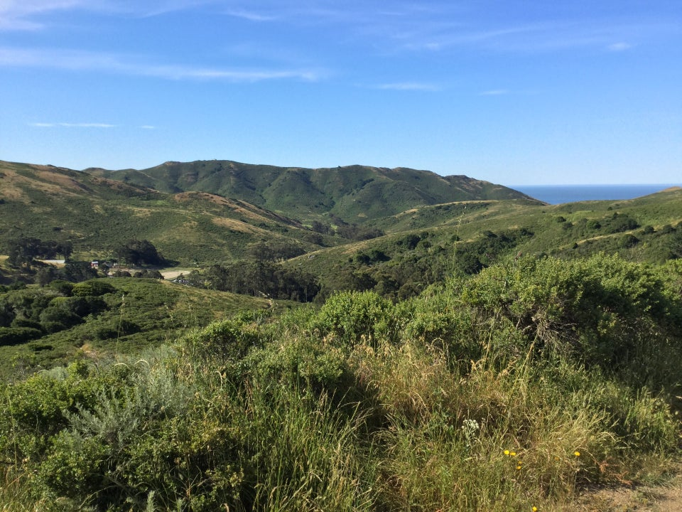 View of the Marin Headlands from Miwok north of Tennessee Valley